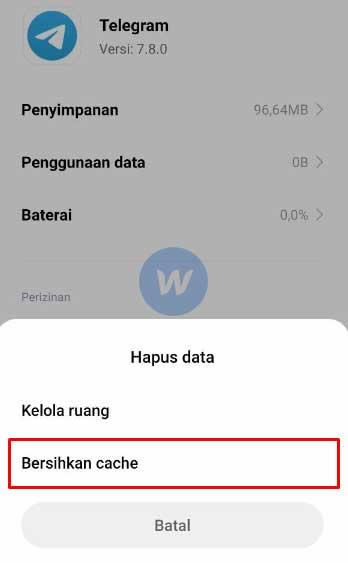 Bersihkan Cache Telegram