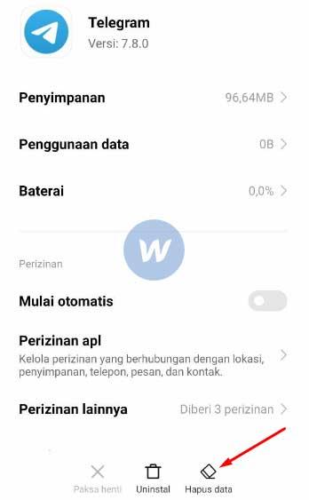 Hapus Data Telegram